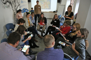 Workshop with New Shores – testing the game with educators