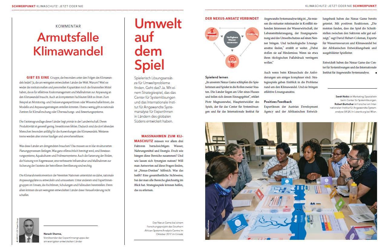 An article about Nexus Game in ADA-magazine Weltnachrichten
