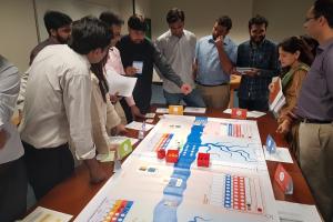 Playing Nexus Game at Lahore University of Management Sciences!