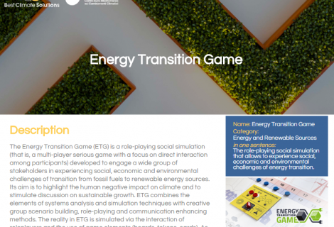Energy Transition Game competes for the Best Climate Solutions award
