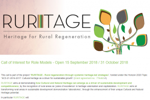 RURITAGE invites rural communities to join the project as Role Models