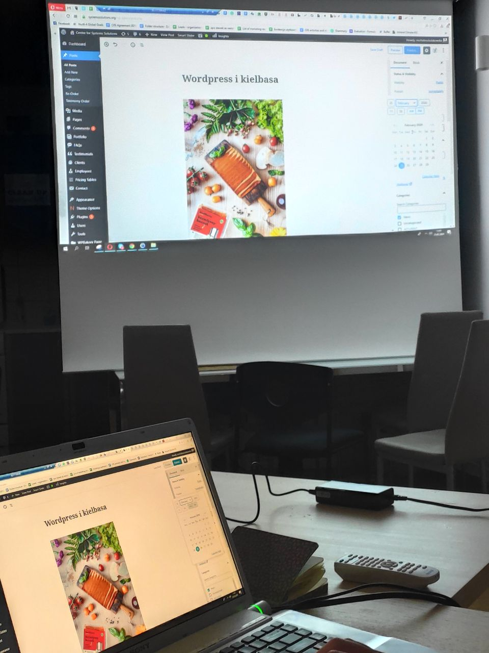 Share your competences – internal workshop on WORDPRESS
